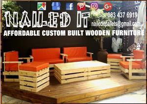 Custom Built Pallet Wood Furniture,Durban, Kwa-Zulu Natal