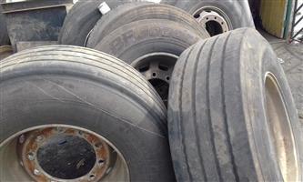 tires 385 with aluminum rum