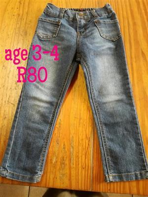 Grey denim pants for sale