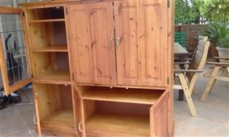 TV Cabinet ...Oregon Pine Solid