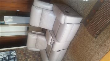 Real leather double recliner