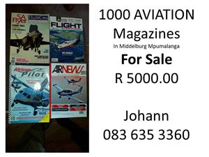 Avaition magazines for sale