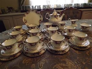 Royal Albert Celebration 41 piece tea set for 12 people