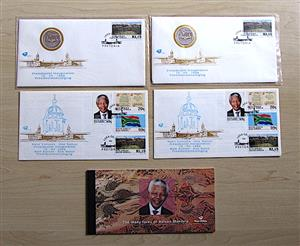Mandela Inauguration First Day Cover and R5 coin.