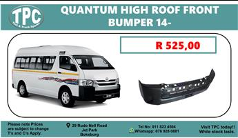 Toyota Quantum High Roof Bumper 2014 up For Sale at TPC