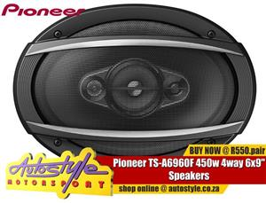 "Pioneer TS-A6960F 450w 4way 6x9"" Speakers"