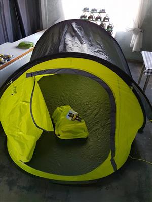 Lime green kiddies tent