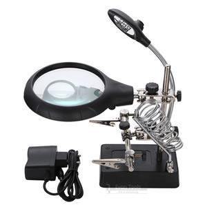5 LED Auxiliary Clip Magnifier AC/DC Interchangeable