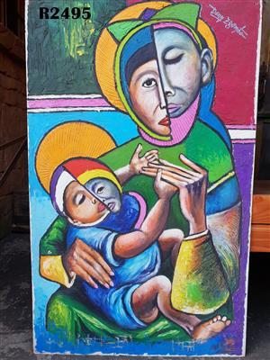 Original Dennis Zgambo Painting No 1 (750x1200)