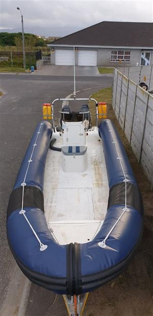 1999 Rubber Duck with trailer, 6,5m with new license and full seaworthy certificate – R84 990.00