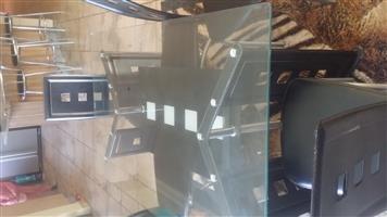 6 Sitplek met Glas Tafel