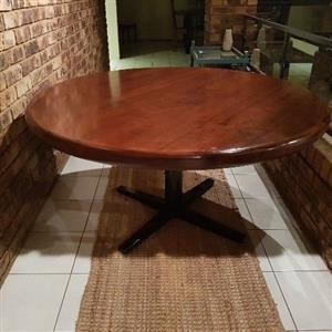1.5m Diameter dining room table. Seats 6