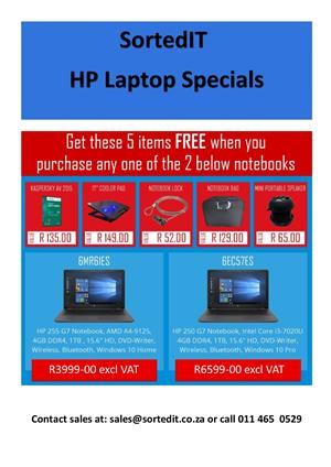 New HP Laptop Specials With Free Accessories