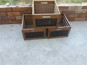 Hardwood storage /display crates /boxes