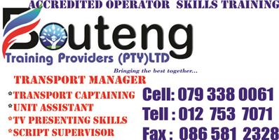 BOUTENG TRAINING PROVIDERS 0793380061