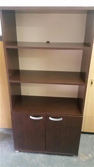 2 Door Cabinet with bookshelf