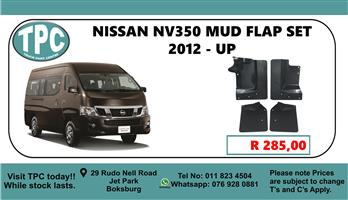 Nissan NV350 Mud Flap Set 2012 - Up - For Sale at TPC
