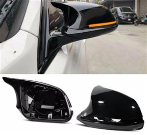 BMW M3 / M4 Style Full Gloss Black Mirror Cap Replacement Covers