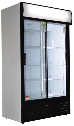 Bottle Cooler - Double Door Sliding