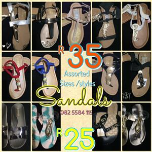 Brand NEW ladies sandals and clothing