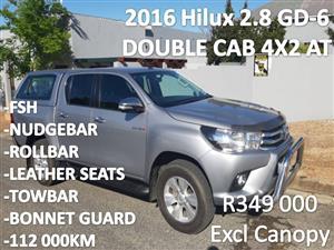2016 Toyota Hilux double cab HILUX 2.8 GD 6 RB RAIDER P/U D/C A/T