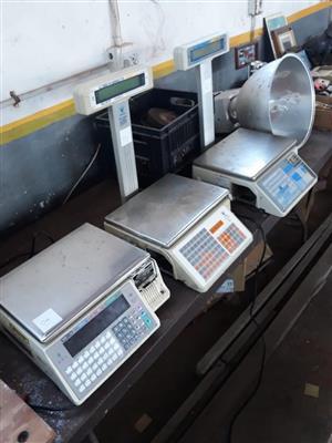 Electronic butchery scales