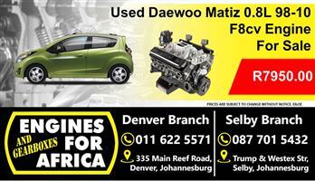 Used Daewoo Matiz 0.8L F8cv 98-10 Engine For Sale
