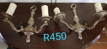 Wall mount candle holders