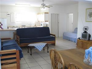 SPACIOUS ONE BEDROOM FULLY FURNISHED GROUND FLOOR FLAT R4800 PM AVAILABLE MAY SHELLY BEACH, UVONGO, ST MICHAELS-ON-SEA