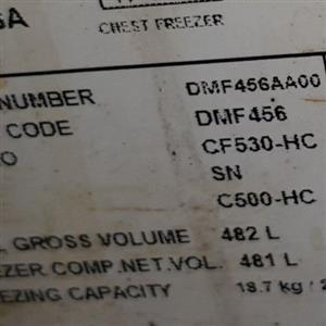 Very big Defy box freezer 482 liters