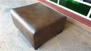 Brand New Leather Ottoman