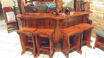 Solid wooden Bar Unit