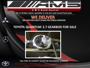 TOYOTA QUANTUM 2.7 GEARBOX FOR SALE