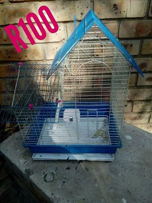 Blue hamster cage for sale