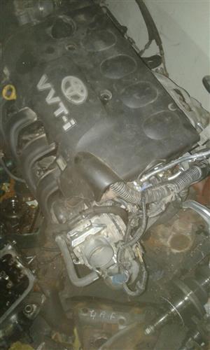 Toyota Yaris 1000cc engine (R17,000) & T3 engine (R22,000)