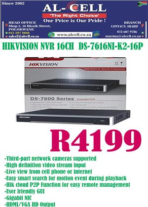 HIkvision 16 Channel NVR With 16Ch POE 160 Mbps