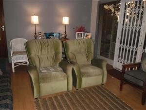 2  Lazy boy type chairs