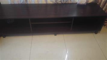 Dark solid wood tv stand