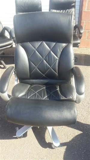 Demo Model Diamond High Back Leather Chair