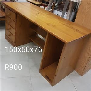 Wooden desk with drawers for sale