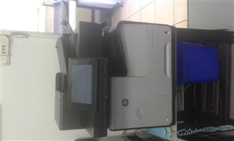 HP Officejet Enterprise Color MFP X585 with low count