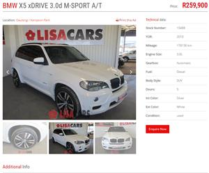 2010 BMW X5 xDRIVE30d M SPORT