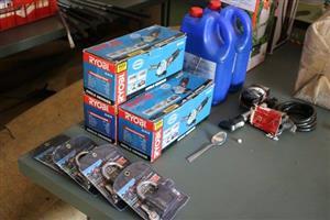 Ryobi grinders and alarm locks