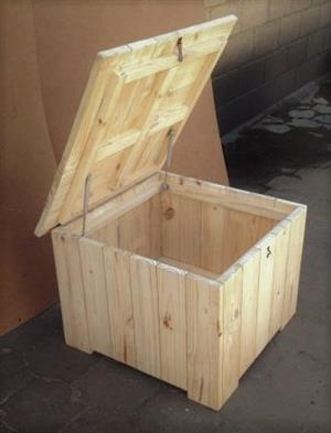 Toy box Cottage series 700 square with lid Raw