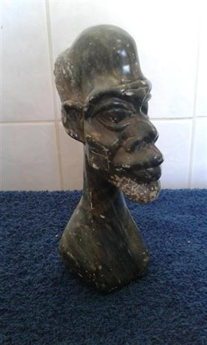 African head made for stone