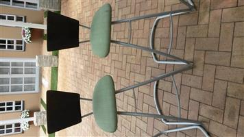 Hi Back Chairs/sturdy strong metal base
