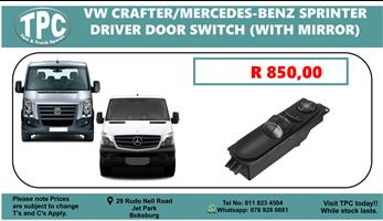 VW Crafter/Mercedes-Benz Sprinter Driver Door Switch (With Mirror).
