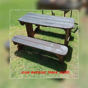 Kiddies outdoor table for sale