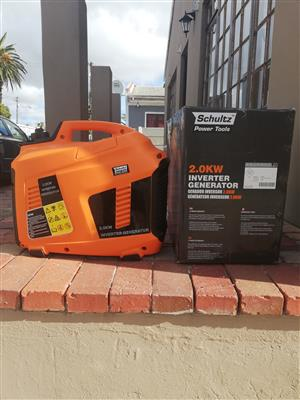 As new Schultz 2.0kw Inverter generator R3500