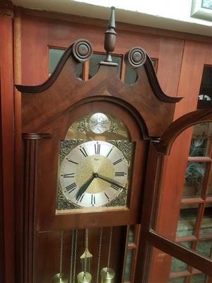 Imbuia Wood Urgos Grandfather Clock